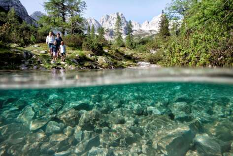 Clear lakes and high mountains in Tyrol