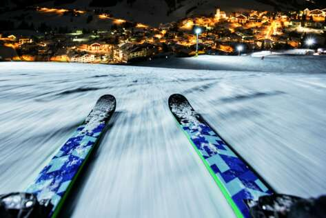 Night skiing at the Skiarena Berwang